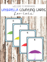 Umbrella Counting Cards