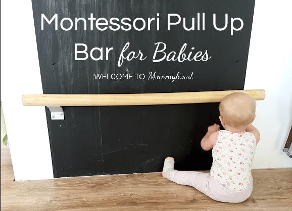 Montessori Baby Activities Pull Up Bar For Gross Motor Skills