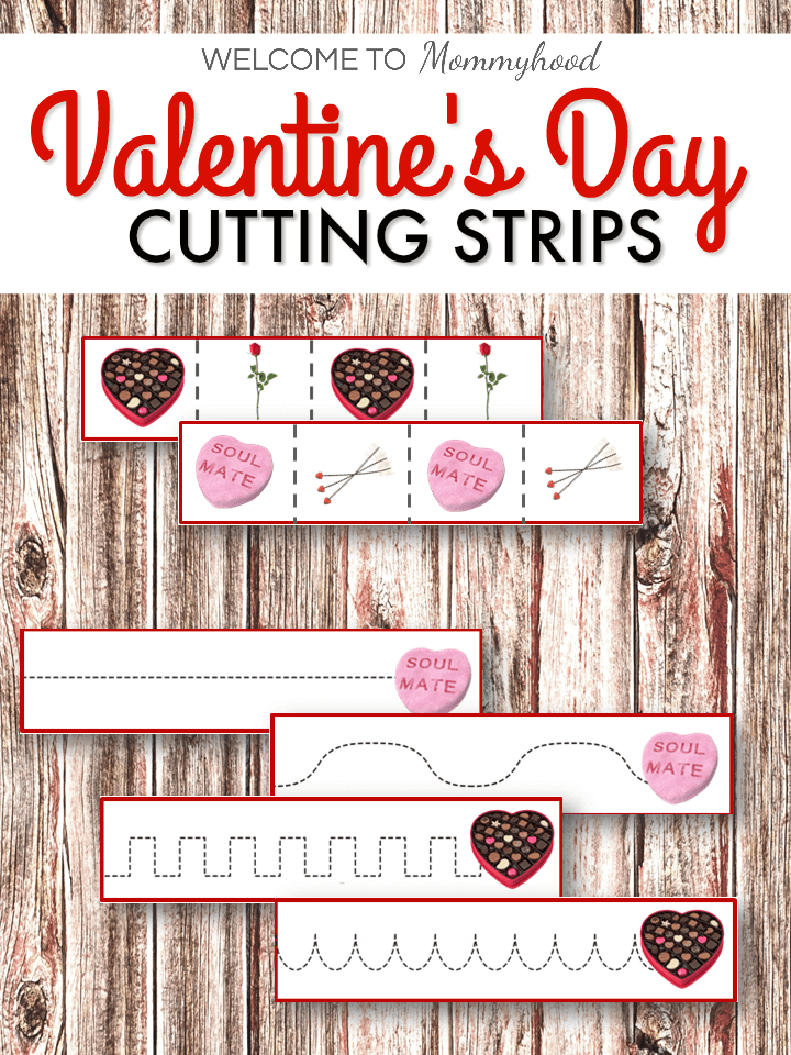 Valentine's Day Cutting StripsValentine's Day Cutting Strips