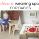 Montessori weaning tables